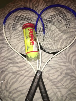 Tennis racket and tennis balls for Sale in St. Louis, MO