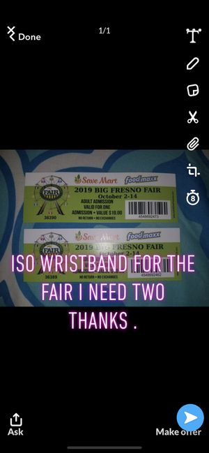Iso 2 wristbands thanks for Sale in Fresno, CA