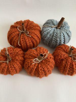 Crochet handmade pumpkins lot fall decor for Sale in North Miami, FL