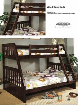 New twin -full bunk bed with mattresses $599 for Sale in Haverhill, FL