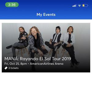 MANA: concert; RAYANDO EL SOL TOUR for Sale in Miami, FL