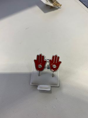 14k Gold With Diamonds Hamsa Red Earrings for Sale in Los Angeles, CA