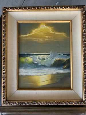 "Beautiful Original Oil Painting, Signed By Established SeaScape Artist ""Eric Robertson"" Excellent condition for Sale in Las Vegas, NV"