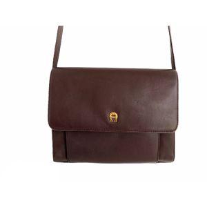 Vintage Aigner Dark Brown Leather Crossbody Bag for Sale in Dacula, GA