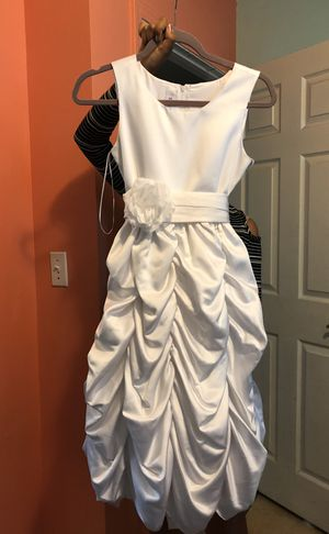 White Dress Baptism Comunión Size 12 for Sale in La Puente, CA