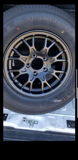 4 New Trailer Wheels/Rims/Tires 205/75/14 tire 5 lug 5x4.5 inch 205-75-r14 for Sale in Moreno Valley, CA