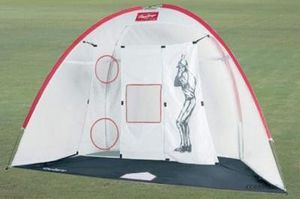 Baseball bag with equipment and pop-up net for Sale in Seattle, WA