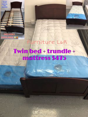 TRUNDLE BED 💥🧑🏻🦰TWIN FRAME AND MATTRESS 💥💥💥 for Sale in Anaheim, CA