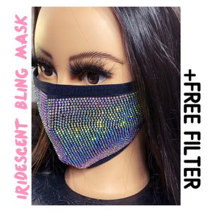 Face Mask Crystal Bling Iridescent Extra for Sale in Fresno, CA