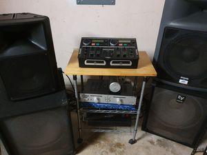DJ speaker system. EV & Peavey subs. Numark CD- mixer. Music Fidelity tube amp. Lots more! for Sale in Miami, FL