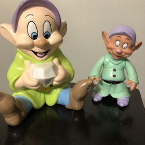 Disney Dopey Ceramic Bank and Vinyl Figurine for Sale in Edmond, OK