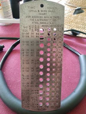 Time Saver Drill and Wire Gauge Chart for Sale in Deltona, FL