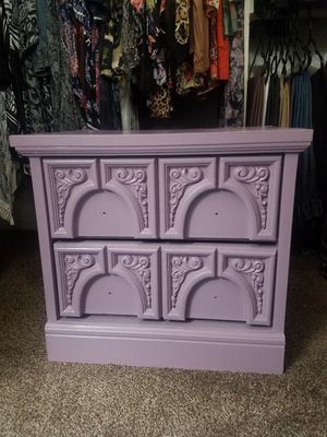 Vintage nightstand champagne pink project peace $20 for Sale in Clovis, CA