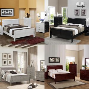 5PC. Queen Bedroom Set-4 Color Options-QBed, Dresser, Mirror, Chest and Nightstand for Sale in Annapolis, MD