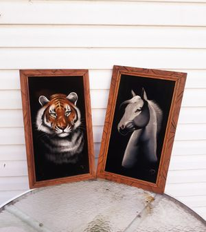 Set of 2 wooden framed pictures for Sale in Hamilton, OH