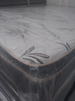 Mattress pillowtop new Queen mattres colchones cama for Sale in Southwest Ranches, FL