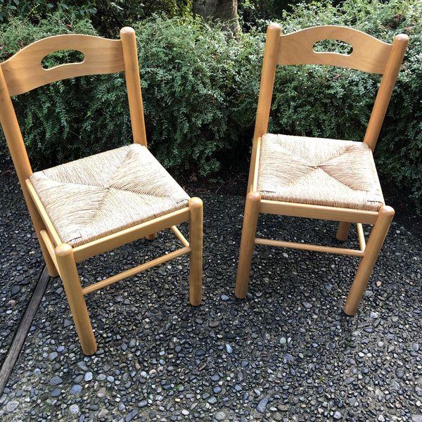 Matching Rush/Wicker Chairs