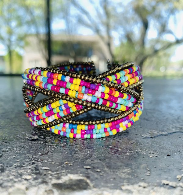 Handmade bohemian magnetic bracelet I do only ship through OfferUp