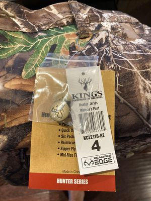 Women's size 4 King's Camo pants- NEW for Sale in Boring, OR