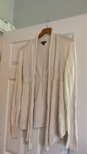 Express cream colored cardigan for Sale in Washington, DC