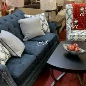☃️🖤same Day And Free Delivery☃️🖤☃️LaVernia Navy Living Room Set ☃️ for Sale in Houston, TX