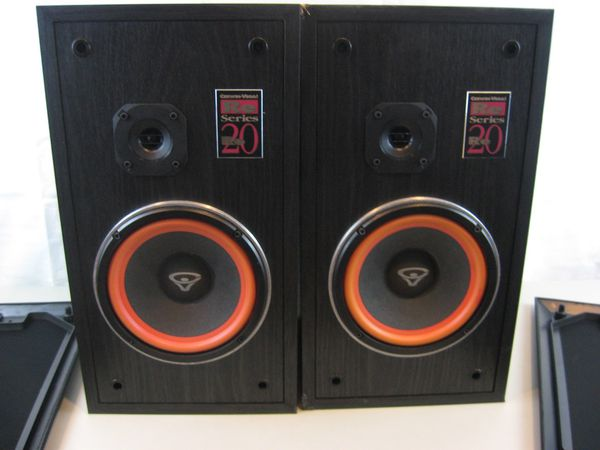 "Cerwin-Vega RE 20 Series Floor Speakers 20"" Tall"