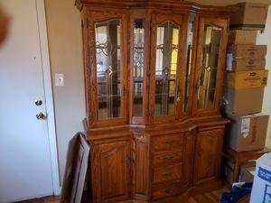 Wood China Hutch for Sale in Wichita, KS