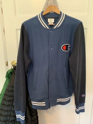Champion big logo Varsity Jacket size Small reverse weave hoodie for Sale in San Francisco, CA