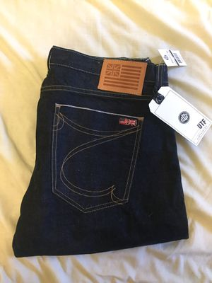 Brand new men's jeans sz 36 light rinse straight leg for Sale in Houston, TX