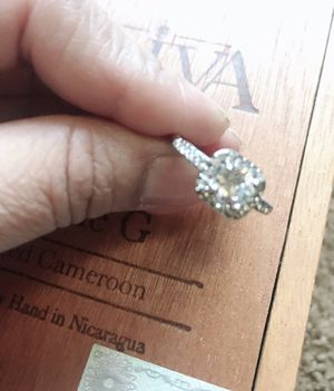 Luxurious 925 Sterling Silver Natural Gemstones White Sapphire Princess Romantic wadding ring sizes 8/9 for Sale in March Air Reserve Base, CA