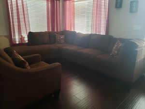 Sectional couch & chair for Sale in Redlands, CA
