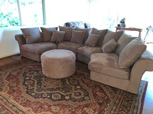 Rapallo brand Large sectional/couch and ottoman/s for Sale in Everett, WA