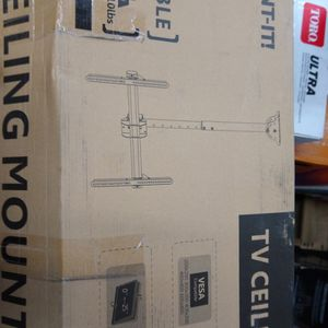 """Mount-It Ceiling TV Mount Bracket, Fits 40- 70"""" Flat Panel Televisions, Adjustable Height Telescoping Tilt and Swivel, Mount on Vaul for Sale in Kent, WA"""
