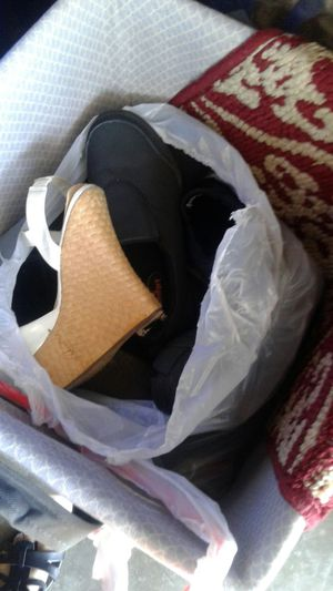 Big bag of shoes for Sale in Sanger, CA