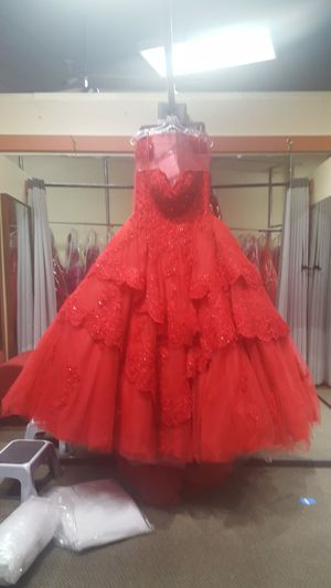 Red dress quinceanera, sweet 16 for Sale in Oakland, CA