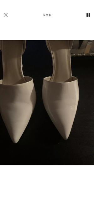 Zara basic white heel/size 10 for Sale in Oskaloosa, IA
