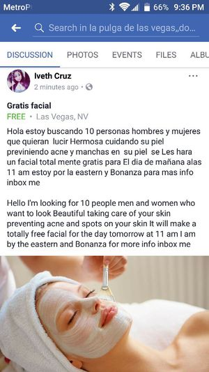 Free facial for Sale in Las Vegas, NV