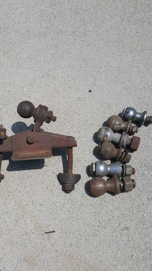 Vintage trailer hitch and vintage hitch balls for Sale in La Verne, CA