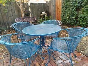 """WOODARD"" PATIO FURNITURE. 9 pieces for Sale in West Sacramento, CA"