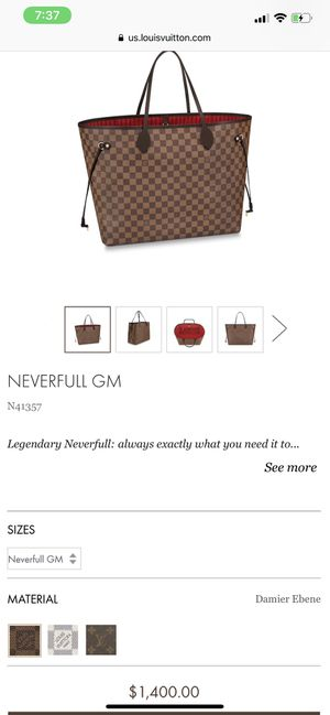 LOUIS VUITTON NEVERFULL GM bag for Sale in Greenbelt, MD