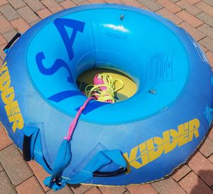 To boating inner tubes with tube covers. 1 ski rope included. All for $40 for Sale in Chicago, IL