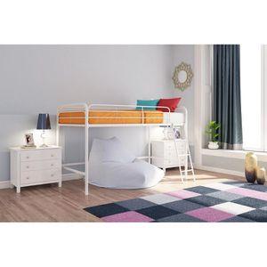 White Junior loft bed frame for Sale in Poplar Grove, IL