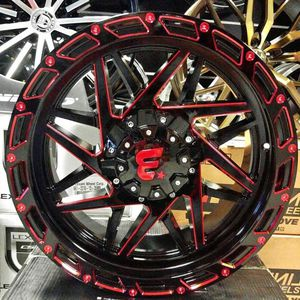 """Brand New 20"""" WB 20X10 6x135 / 6x139.7 Black Red Milled Wheels for Sale in Miami, FL"""