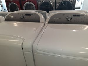 Whirlpool cabrio washer and dryer electric good condition 90 days warranty for Sale in Mount Rainier, MD