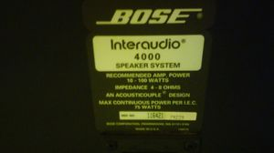 BOSE Inter audio 4000 Speaker system recommended amp. Power 10 - 100 watts for Sale in Paramount, CA