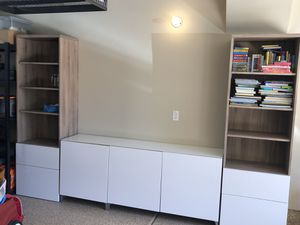 IKEA Media Console and bookshelves for Sale in San Diego, CA