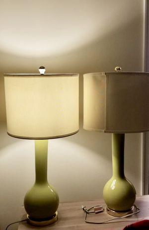 Safavieh Green Table Lamps (Set of 2) for Sale in Elkridge, MD