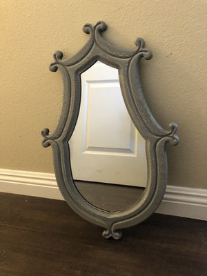 Nautical Style Grey Shabby Chic Distressed Wall Mounted Mirror for Sale in Simi Valley, CA