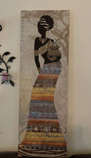 Beaded wall art with FREE wall candle holders sconces for Sale in Glendale, AZ
