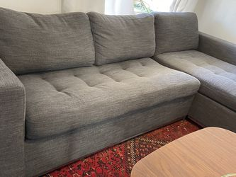 Grey Sectional Couch With Sleeper Sofa Hide A Bed for Sale in San Francisco,  CA